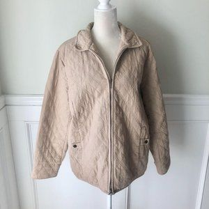 Croft & Barrow Tan Quilted Cotton Jacket XL